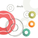 Vector Donuts. Colorful donuts design, vector illustration Stock Images