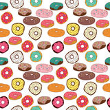 Vector donuts seamless pattern Royalty Free Stock Photography