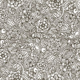 Vector doodle abstract floral seamless pattern Royalty Free Stock Photography