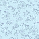 Vector Doodle Bicycles Pattern Stock Image