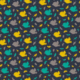 Vector doodle birds seamless pattern Stock Images