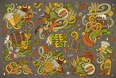 Vector doodle cartoon set of Oktoberfest designs Stock Image