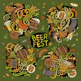 Vector doodle cartoon set of Oktoberfest designs Royalty Free Stock Photography