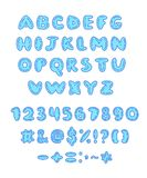 Vector doodle character and number set. Vector doodle character, number and punctuation marks set Stock Images