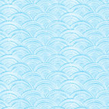 Vector doodle circle water texture vertical seamless pattern background Stock Photo