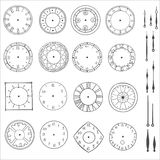 Vector doodle clock. Doodle clock, simple hand drawn vector illustration Royalty Free Stock Image