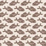 Vector doodle decorative fish pattern Stock Photos