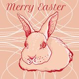 Vector doodle easter rabbit for greeting cards Stock Photo