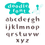 Vector doodle font and character Stock Photography
