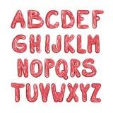 Vector Doodle Font. Funky Aplphabet ABC Design. Vector Doodle Font. Funky Aplphabet. ABC Design royalty free illustration
