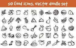 Vector doodle icons set Stock Images