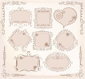 Vector Doodle frames collection Royalty Free Stock Photography