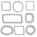 Vector doodle frames Stock Image