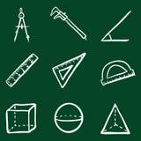 Vector Doodle Geometry Icons Set Stock Photo