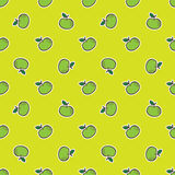 Vector doodle hand drawn apple seamless pattern. Vector green doodle hand drawn apple seamless pattern vector illustration
