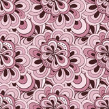 Vector doodle hand drawn seamless floral pattern Stock Photos
