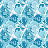 Vector doodle hand drawn seamless floral pattern Royalty Free Stock Photography