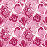 Vector doodle hand drawn seamless floral pattern Stock Image