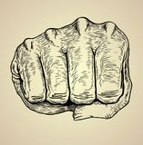 VECTOR DOODLE HAND PUNCH Royalty Free Stock Images