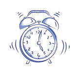 Vector doodle icon alarm clock Stock Photography