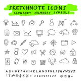 Vector Doodle Icons Royalty Free Stock Photos