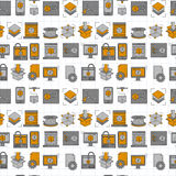 Vector doodle icons 3d printing. Linear set Stock Images