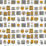 Vector doodle icons 3d printing. Linear set Stock Photography