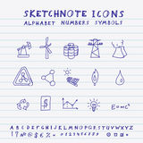 Vector Doodle Icons Royalty Free Stock Photo