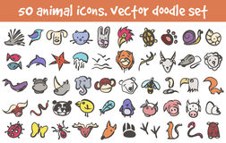 Vector doodle icons set Royalty Free Stock Photos