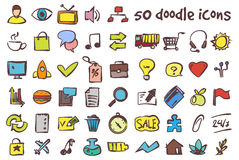 Vector doodle icons set Royalty Free Stock Images