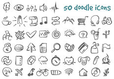Vector doodle icons set Stock Photos