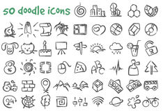 Vector doodle icons set Stock Photo
