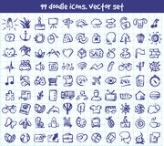 Vector doodle icons set Royalty Free Stock Image