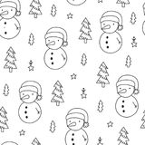 Vector doodle pattern Royalty Free Stock Image