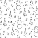 Vector doodle pattern Royalty Free Stock Photos