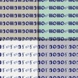 Vector doodle seamless paterns. Medicine icons set Stock Photos