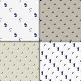 Vector doodle seamless paterns. Medicine icons set Royalty Free Stock Image