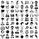 Vector doodle set with business signs, icons. Vector doodle set with business signs and icons Finance Insurance Internet marketing Stock Image