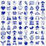 Vector doodle set with business signs, icons. Vector doodle set with business signs and icons Finance Insurance Internet marketing Royalty Free Stock Photography