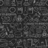 Vector doodle set of education symbols Back to school Royalty Free Stock Photos
