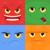 Vector doodle set of emotions Stock Photos