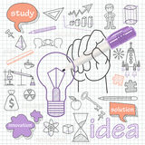 Vector doodle set of icons symbol idea. Infographics elements hand-drawn Stock Photos
