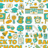 Vector doodle set with school items Stock Image