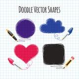 Vector Doodle Shapes Set Stock Image