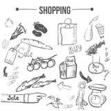 Vector doodle shopping stylish set. EPS10 Stock Images