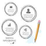 Vector doodle sketch elements for infographic. Stock Image