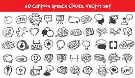 Vector doodle speech clouds icons set Stock Image