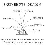 Vector Doodle Start Up Design Royalty Free Stock Image