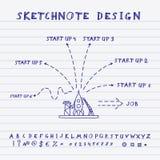 Vector Doodle Start Up Design Stock Photos