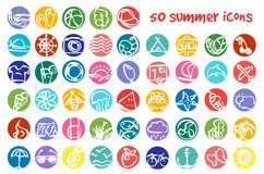 Vector doodle summer icons set Stock Photography